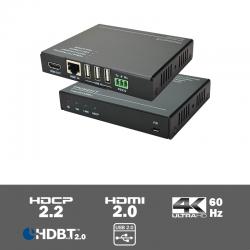 TPUH451 4K HDBaseT 2.0 KVM extender 100m