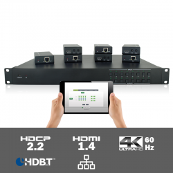 MUH88E - 8x8 HDMI HDBaseT matrix