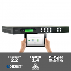 MUH44TPR2-N 4K60 4:2:0 4x4 HDMI naar HDBaseT Matrix Switcher