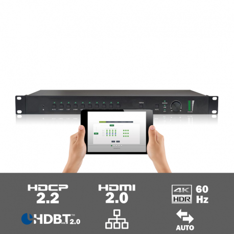 SCU91T 9 input HDR multi-format scaler/switcher met HDBaseT