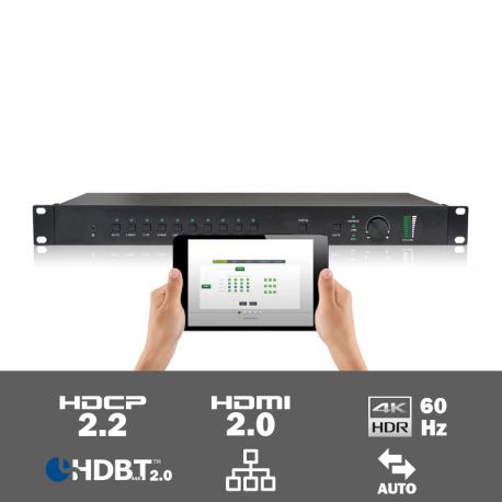 SCU91T 9 input multi-format scaler/switcher met HDBaseT