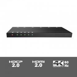 SUH4-H2 - 4-voudige 4K HDMI 2.0 splitter