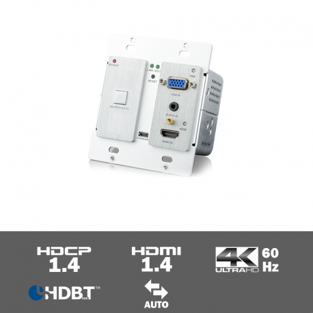 TPUH406TV 4K HDMI and VGA Wall plate extender