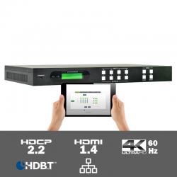 MUH44TPR2-N 4K60 4:2:0 4x4 HDMI naar HDBaseT Matrix Switcher
