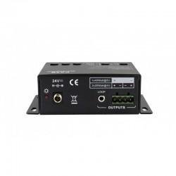 PA2B - Compacte 20W versterker met 1x mic en 2x line ingang